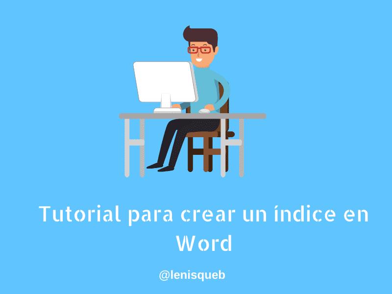 Hacer un índice en Word