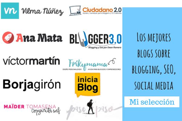 Mejores blog de Blogging, Seo y social media