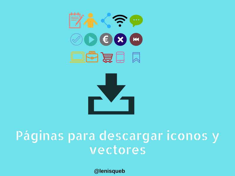 Páginas para descargar iconos y vectores