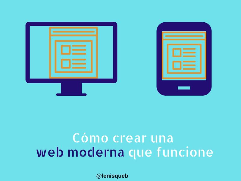 Cómo crear una web moderna que funcione