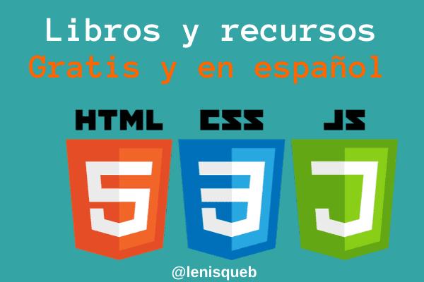 Libros y recursos de HTML, CSS y JS
