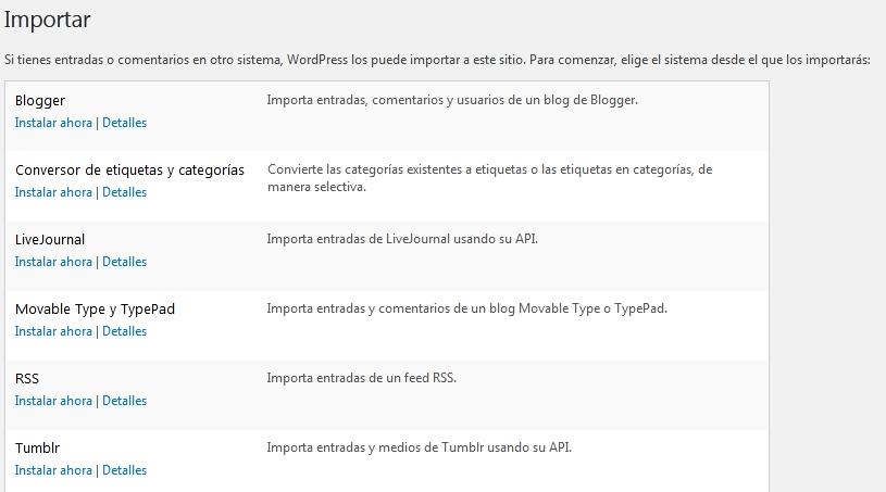 Migrar Blogger a WordPress - Importar Blogger