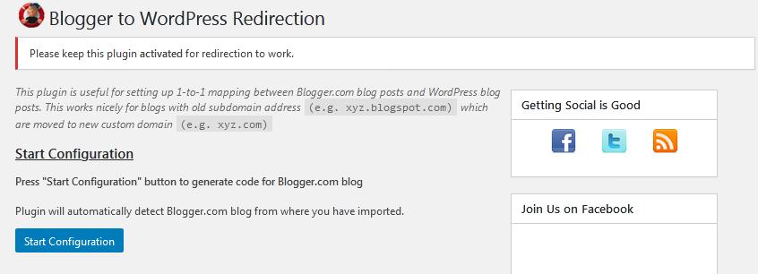 Migrar Blogger a WordPress - Redireccionar Blogspot