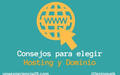 Consejos para elegir hosting y dominio